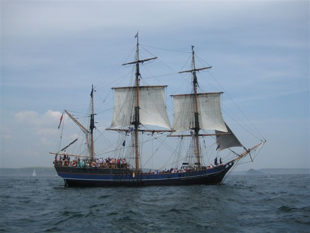 'The Earl of Pembroke' a square rigged boat