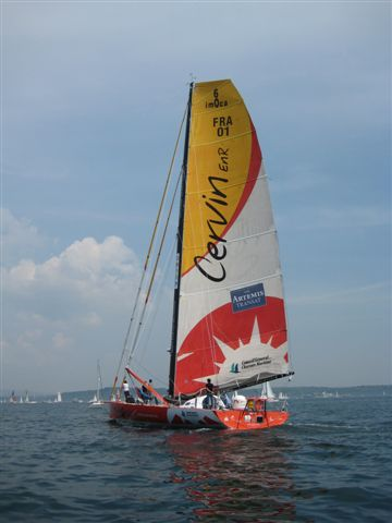 Yannick Bestaven, onboard Cervin EnR, finishes 6th of The Artemis Transat