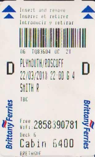 Plymouth/Roscoff Ticket
