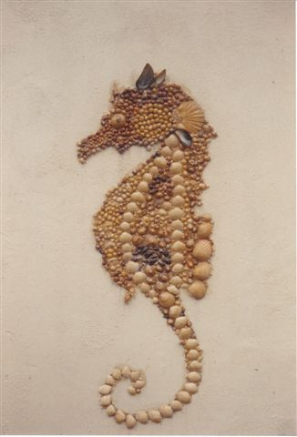 Sea Horse in Shells by Paulene Smith