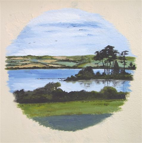 Small Mural of St Johns Lake by Paulene Smith